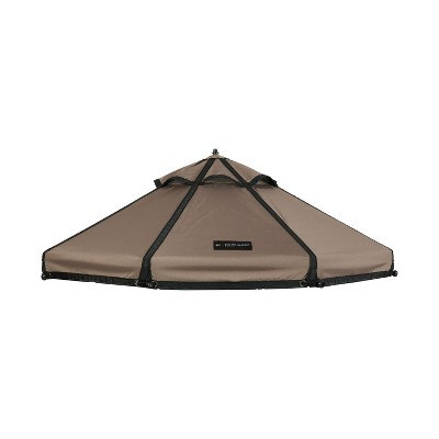Advantek Pet 23414ET 4 Foot Small Outside Sun Shade Shelter Gazebo Canopy Replacement Cover for Outdoor Dog Kennel Play Pen and Enclosure, Earth Taupe