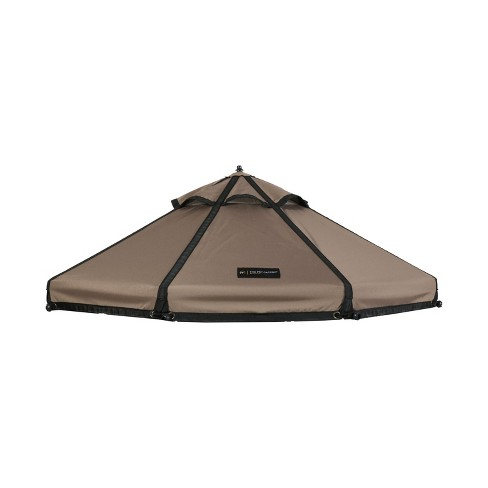 Advantek Pet 23414ET 4 Foot Small Outside Sun Shade Shelter Gazebo Canopy Replacement Cover for Outdoor Dog Kennel Play Pen and Enclosure, Earth Taupe - image 1 of 3