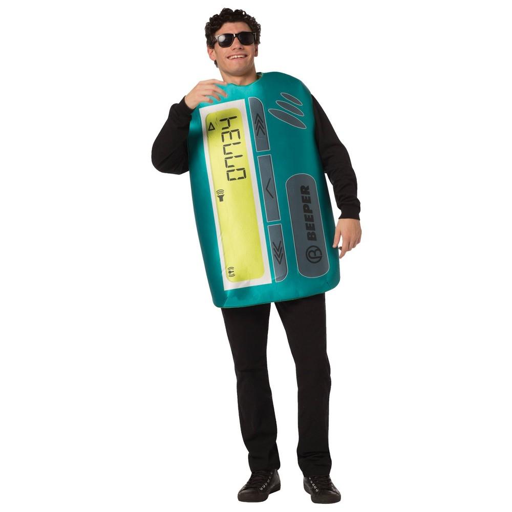 Image of Halloween Adult Beeper Halloween Costume One Size, Adult Unisex, MultiColored