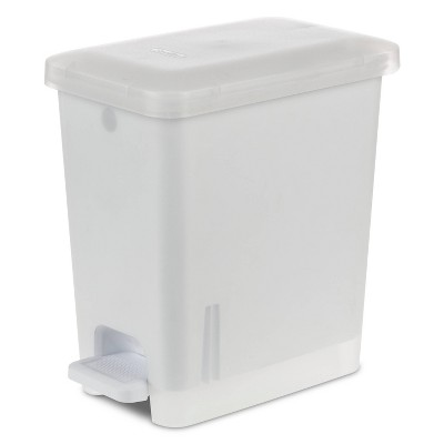 2.7gal Step Trash Can Clear - Room Essentials™