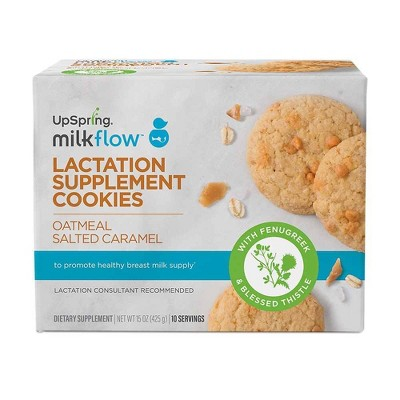 UpSpring Milkflow Oatmeal Salted Caramel Lactation Cookies - 10pk