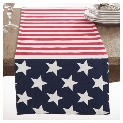 American Flag Design Table Runner (16 x72 )- Saro Lifestyle®