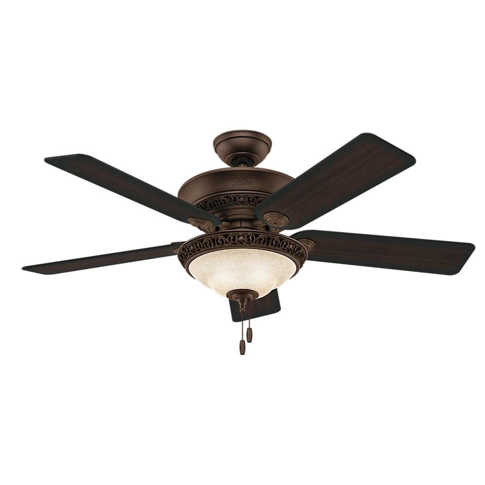 52 Italian Countryside Cocoa Ceiling Fan with Light - Hunter Fan, Bronze