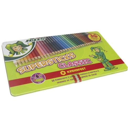 Jolly Supersticks Colored Pencils with Tin, Assorted Colors, set of 36 - image 1 of 1