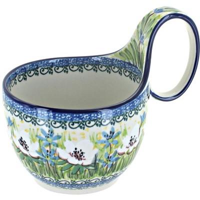 Blue Rose Polish Pottery Song of Spring Soup Mug