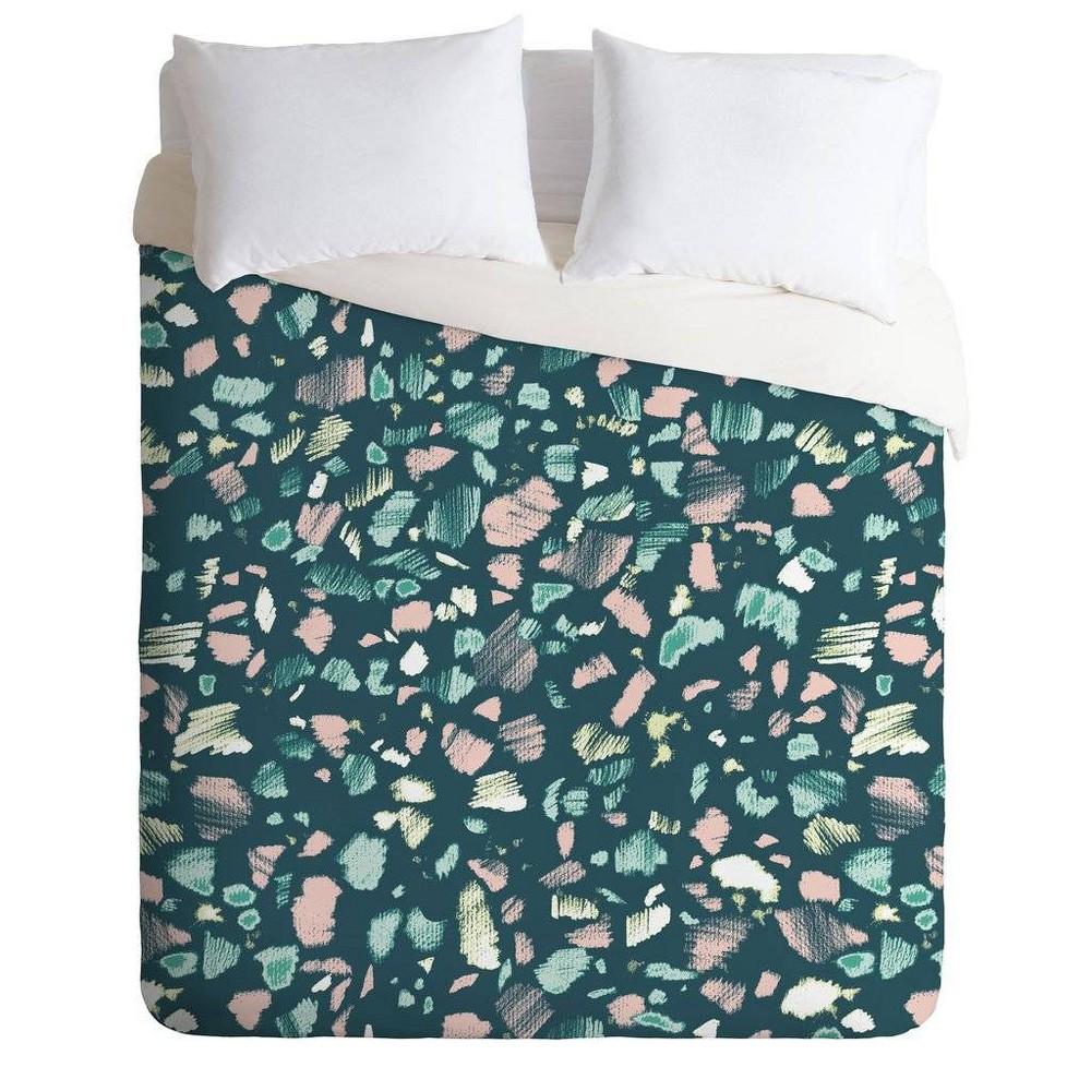 Twin Extra Long Pattern State Comforter & Sham Set Green - Deny Designs