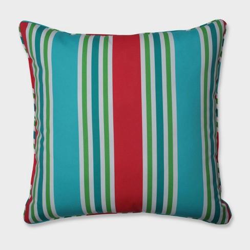 "25"" Aruba Stripe Floor Pillow Blue - Pillow Perfect - image 1 of 1"