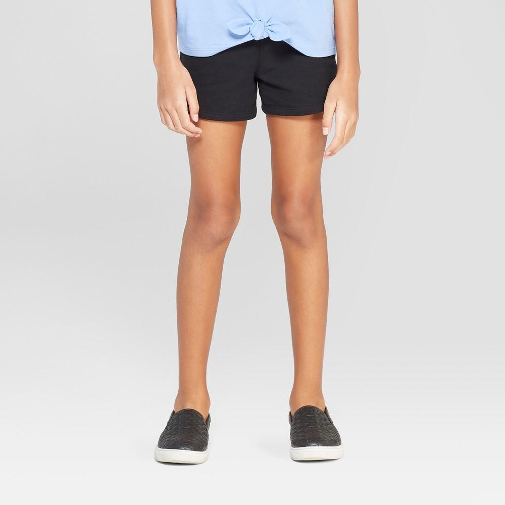 Girls' Knit Shorts - Cat & Jack Black XS