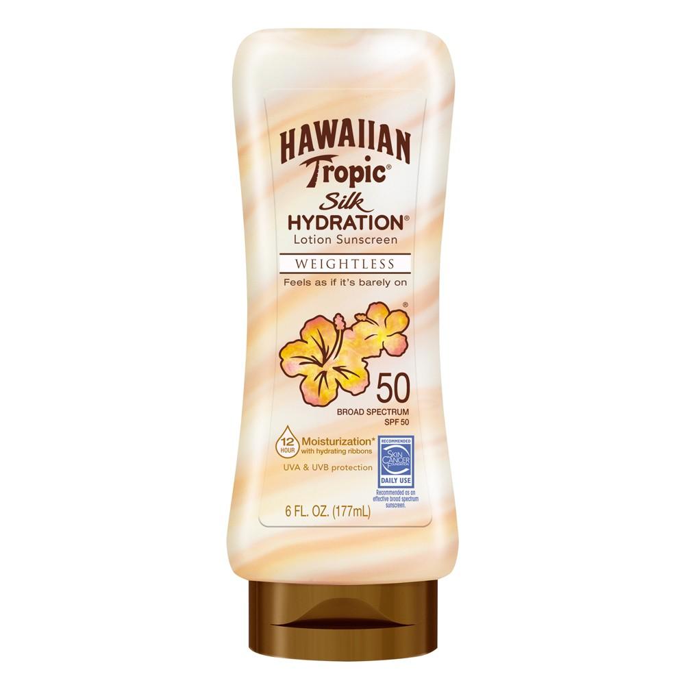 Image of Hawaiian Tropic Silk Hydration Weightless Lotion Sunscreen - SPF 50 - 6oz