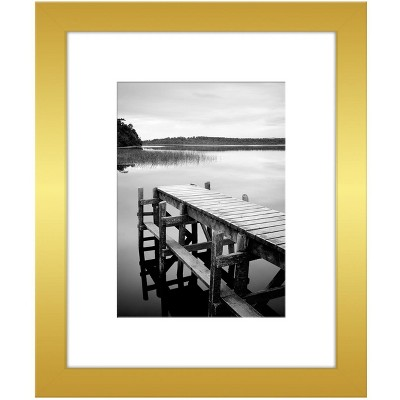 """Americanflat Picture Frame - Made of MDF / Lead Free Polished Glass Horizontal and Vertical Formats for Wall and Tabletop - 8"""" x 10"""" or 11"""" x 14"""""""