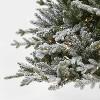 9ft Pre-lit  Artificial Christmas Tree Full Flocked Balsam Fir Clear Lights - Wondershop™ - image 3 of 4