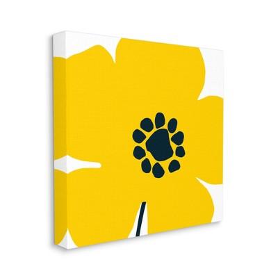 Stupell Industries Yellow Modern Flower Pop Children's Floral Design