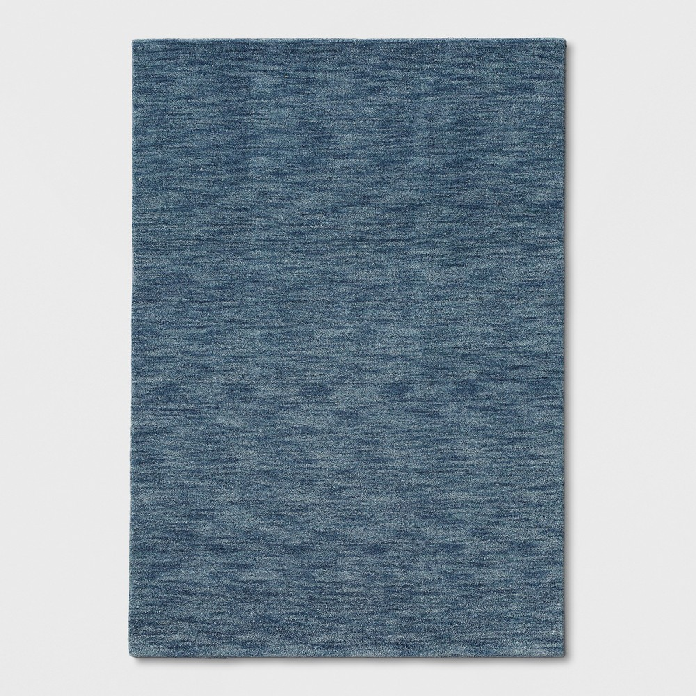 Blue Heathered Woven Spacedye Design Area Rug 7'X10' - Project 62
