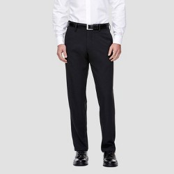 Haggar H26 Men's Tall Straight Fit Performance Pants Black Stripe 40x36