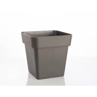 Indoor/Outdoor Modern Pac Square Pot Planter Black - Alfresco Home LLC