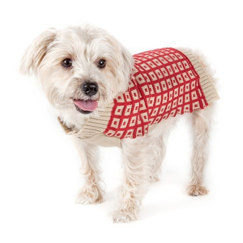 Butterscotch Box Weaved Heavy Cable Knitted Designer Turtle Neck Dog