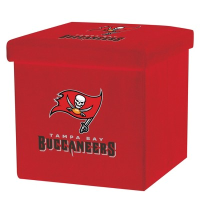 NFL Franklin Sports Tampa Bay Buccaneers Storage Ottoman with Detachable Lid