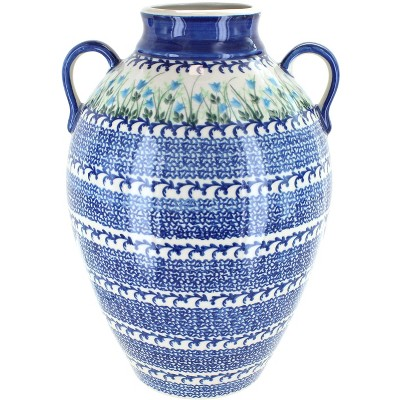 Blue Rose Polish Pottery Misty Large Large Jug Vase