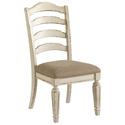 Set of 2 Realyn Dining Upholstered Side Chair Chipped White - Signature Design by Ashley