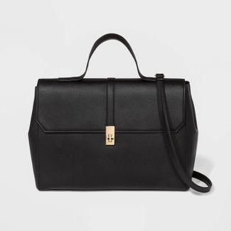 Top Handle Work Tote Handbag - A New Day™ Black