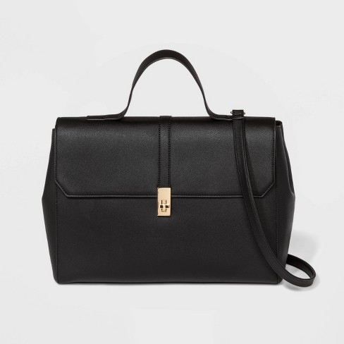 Structured Top Handle Work Tote Handbag - A New Day™ - image 1 of 4