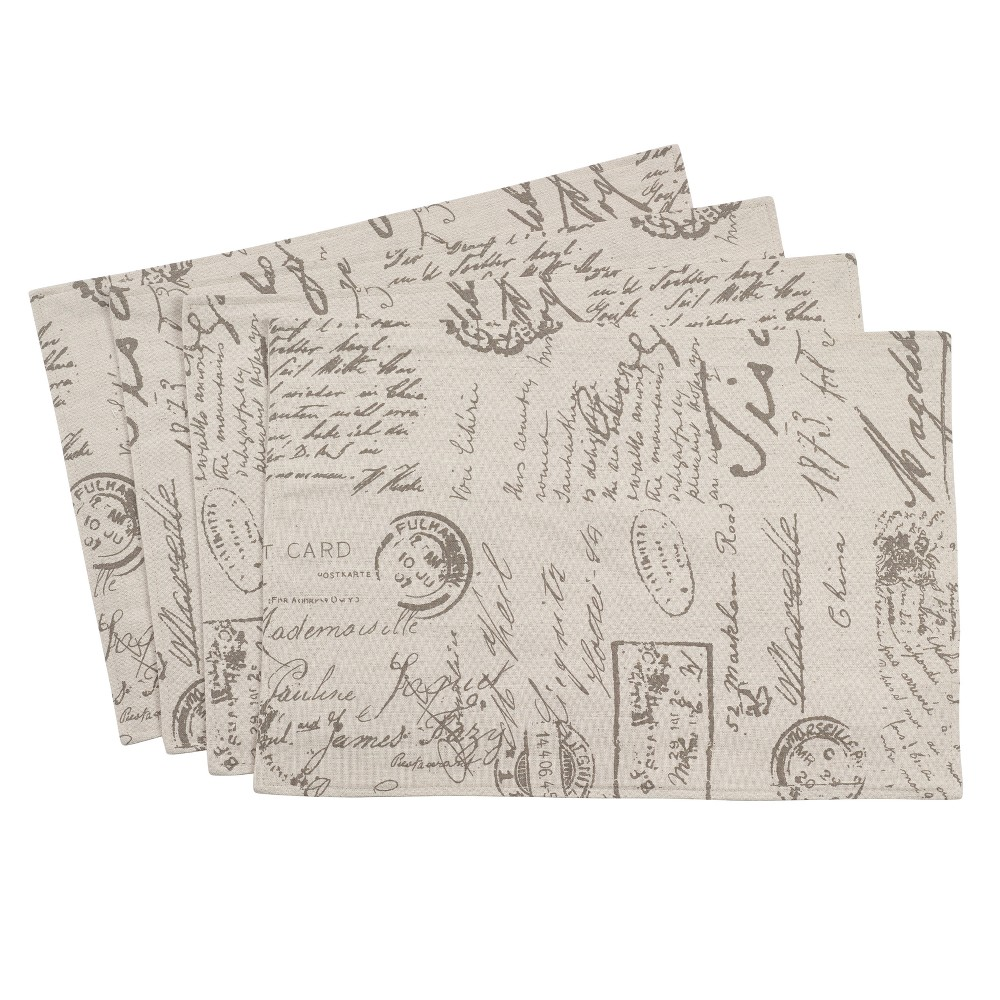 Image of Natural Letters Placemat - Saro Lifestyle
