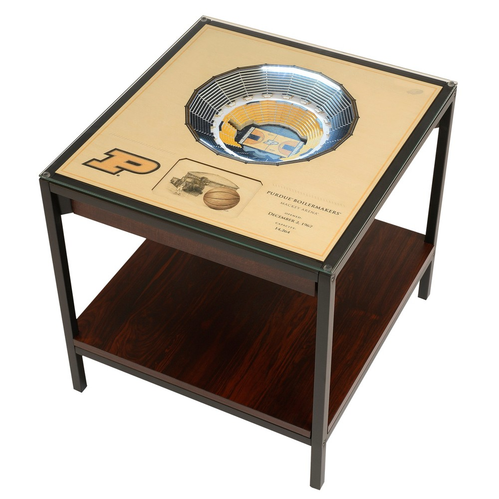 NCAA Purdue Boilermakers 25 Layer Lighted StadiumView End Table