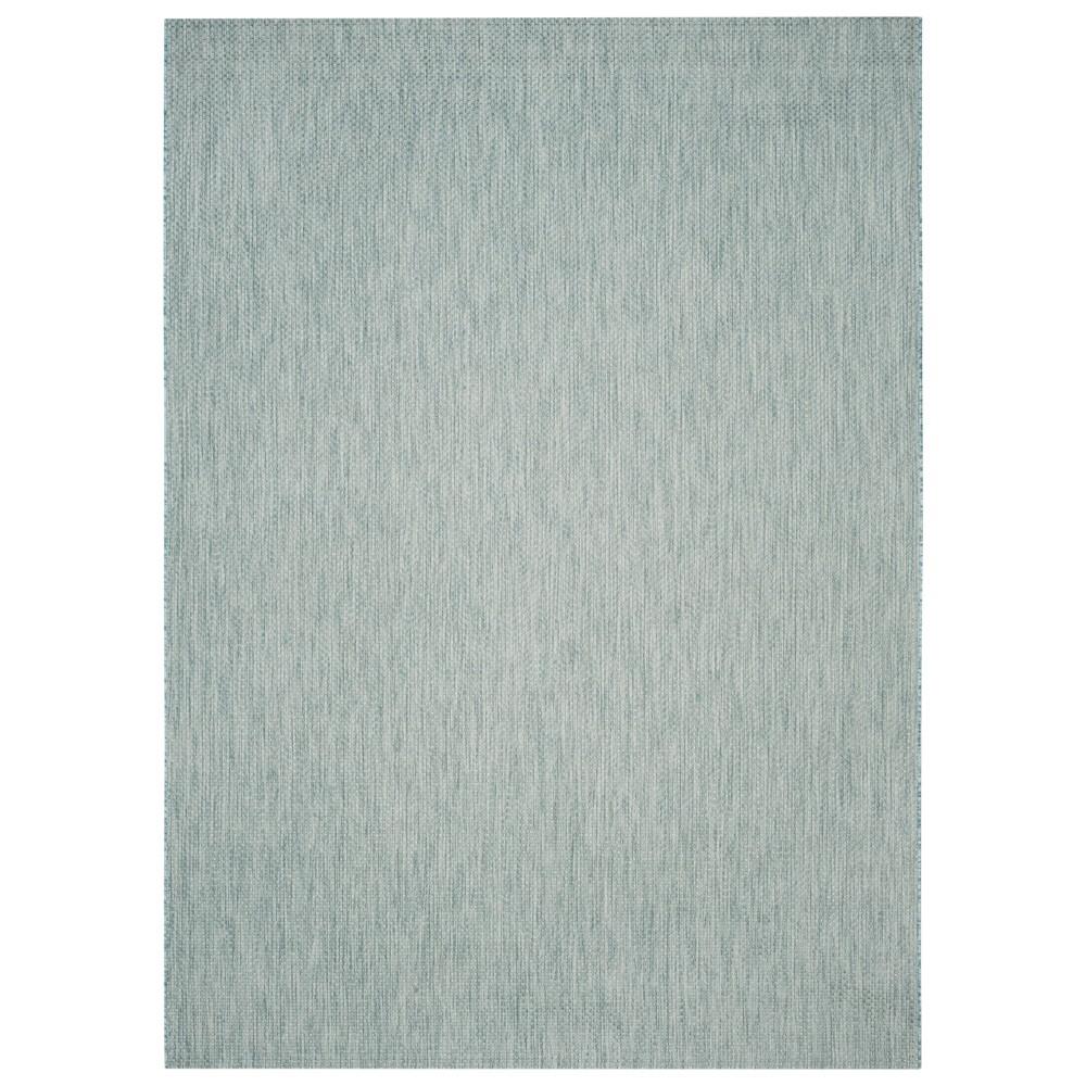 Cherwell Rectangle 8'X11' Patio Rug - Aqua/Gray - Safavieh, Blue