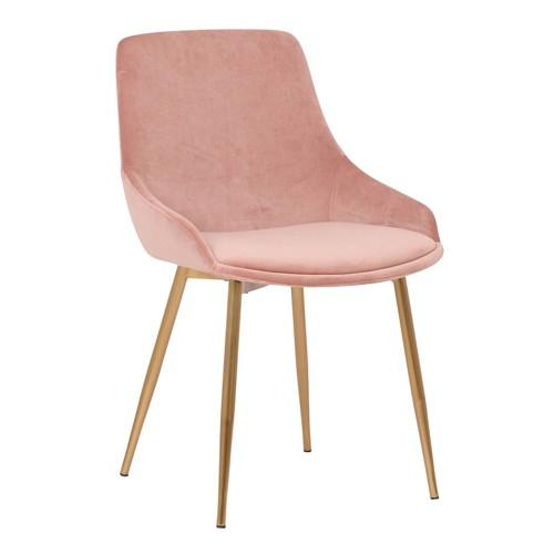Heidi Velvet Dining Accent Chair Blush - Armen Living