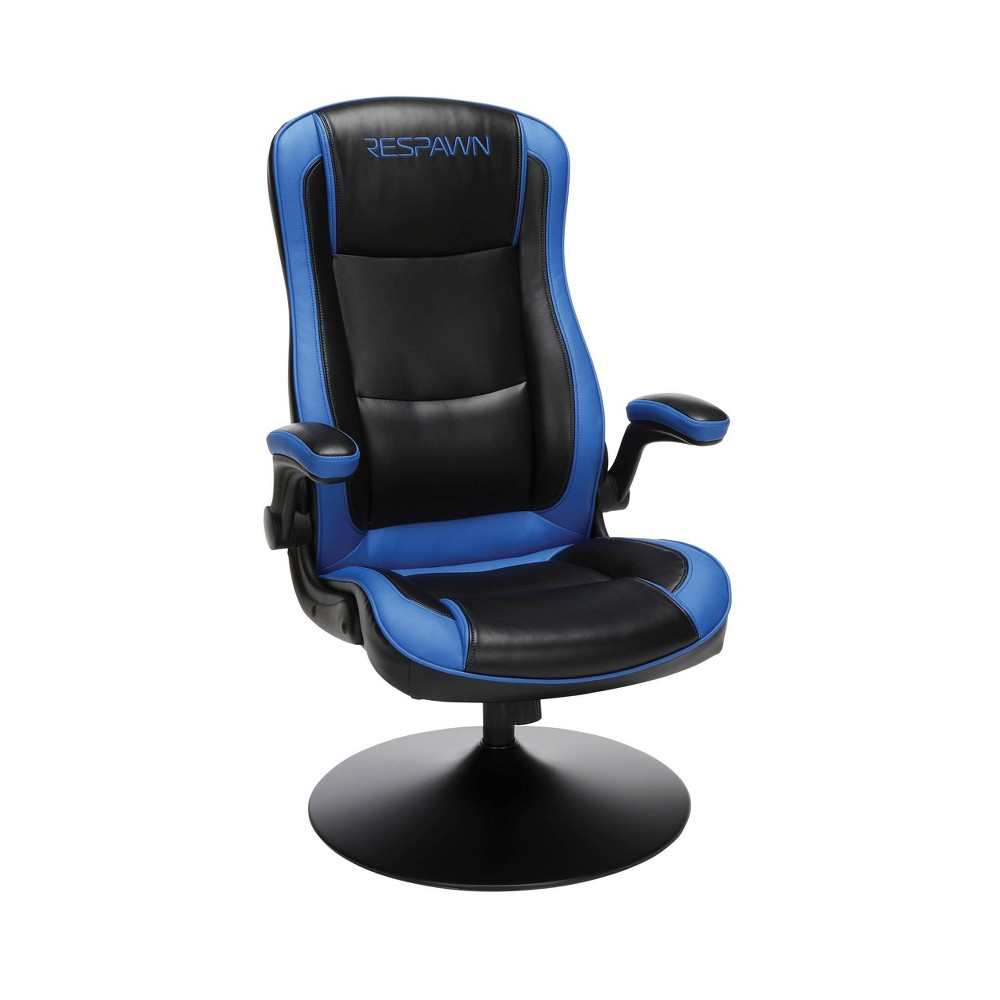 Racing Style Gaming Rocker Chair Blue Respawn