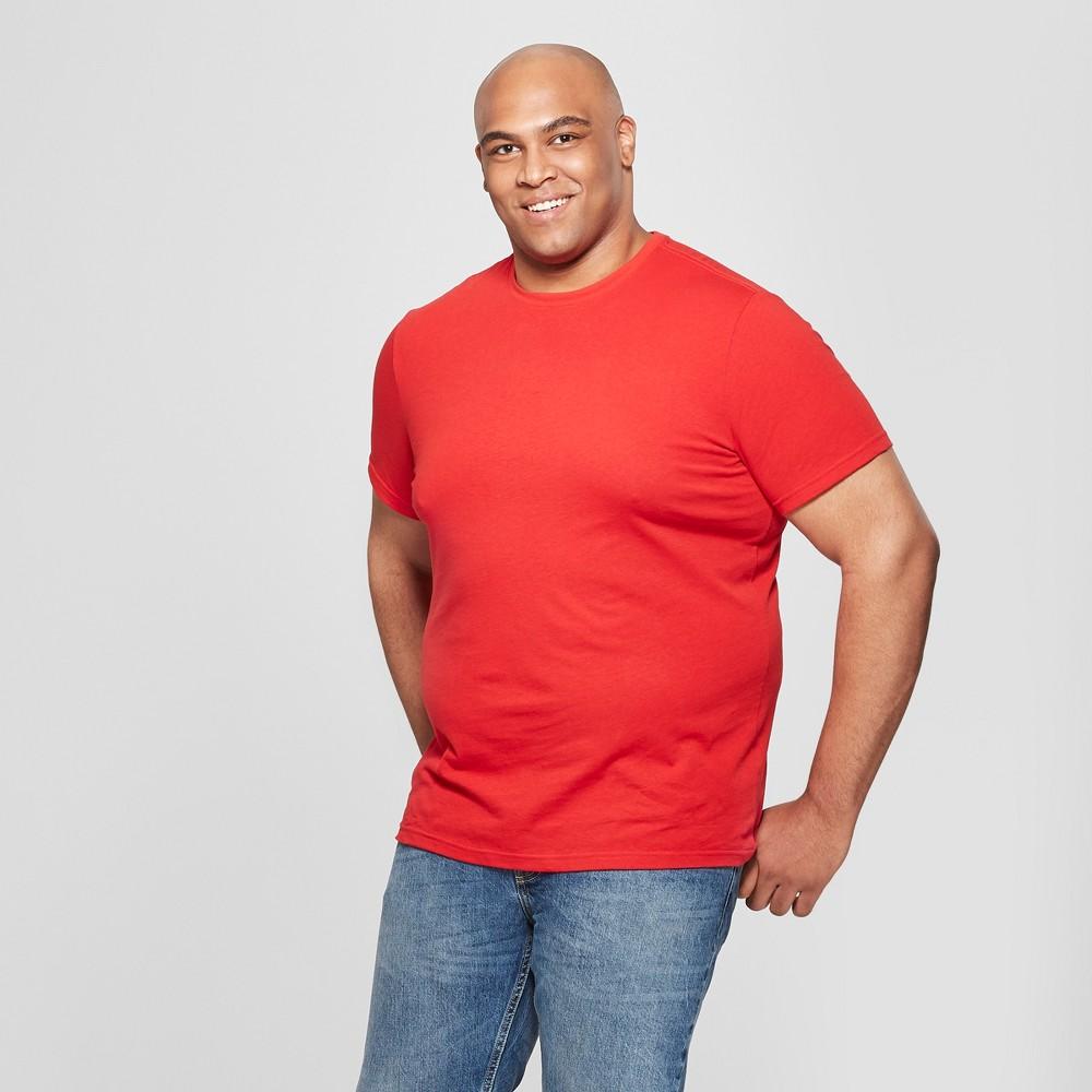 Men's Big & Tall Crew Short Sleeve T-Shirt - Goodfellow & Co Ripe Red 2XBT