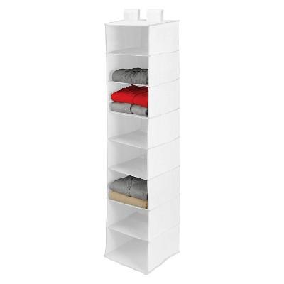 8 Shelf Closet Organizer White