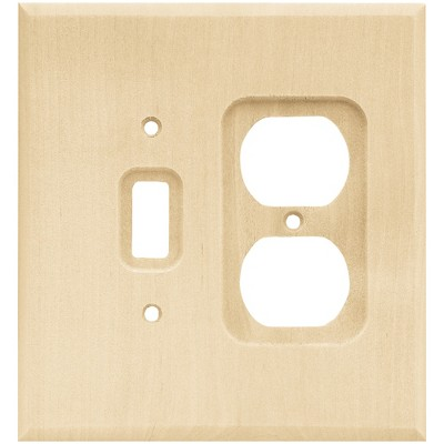 Franklin Brass Square Single Switch & Duplex Wall Plate Unfinished Wood Brown