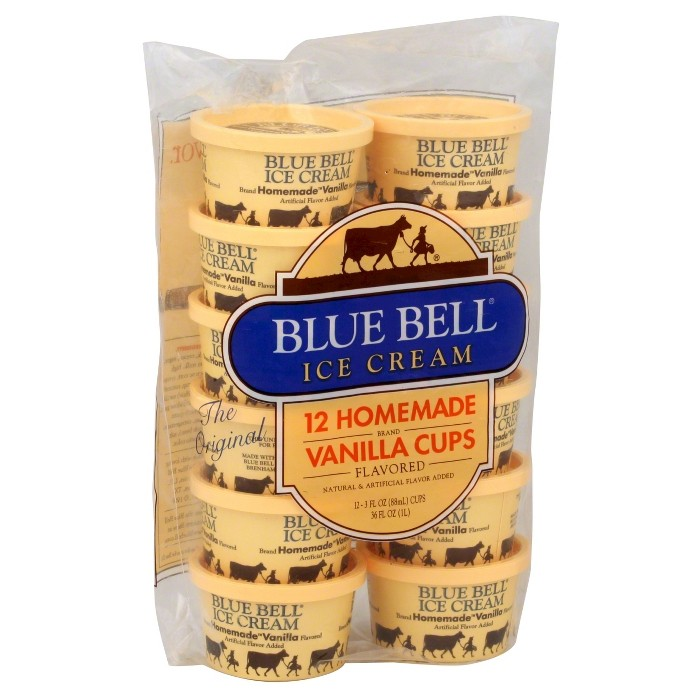 Blue Bell Homemade Vanilla Ice Cream Cups - 12pk/24oz - image 1 of 1