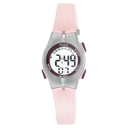 Women's Armitron Digital and Chronograph Sport Resin Strap Watch - Pink - image 1 of 1