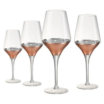 Artland Coppertino 16oz 4pk White Wine Goblets Copper
