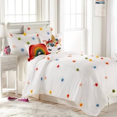 Colorful Pom-Pom Quilt Set - Homthreads