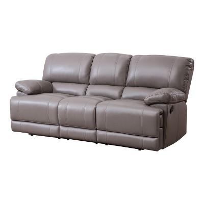 Sensational Renne Top Grain Leather Reclining Sofa Gray Abbyson Living Uwap Interior Chair Design Uwaporg