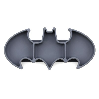 Bumkins DC Comics Batman Grip Dish - Gray