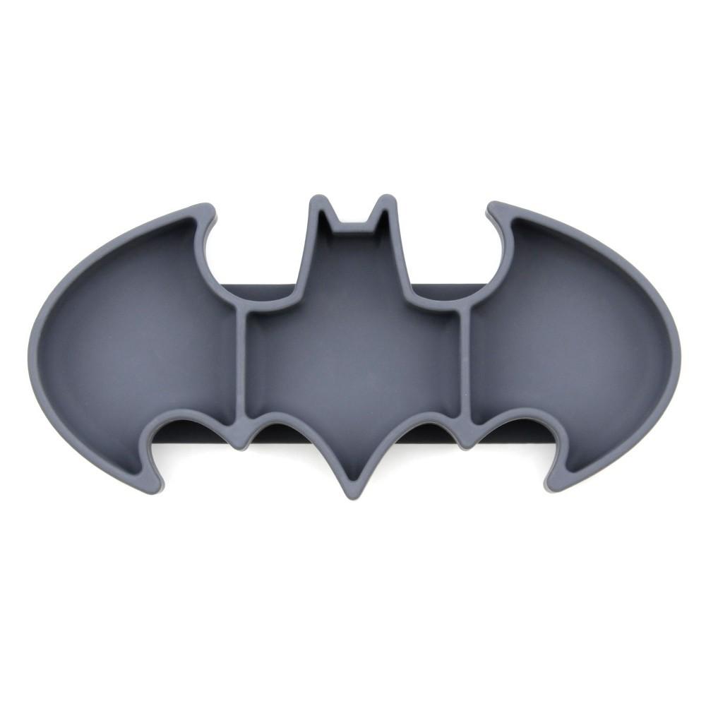 Image of Bumkins DC Comics Batman Grip Dish - Gray