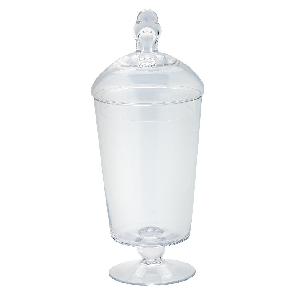Diamond Star Glass Apothecary Jar with Lid Clear (12x5)
