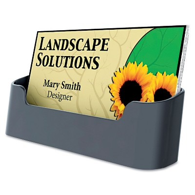 Deflecto Recycled Business Card Holder Holds 50 2 x 3 1/2 Cards Black 90104