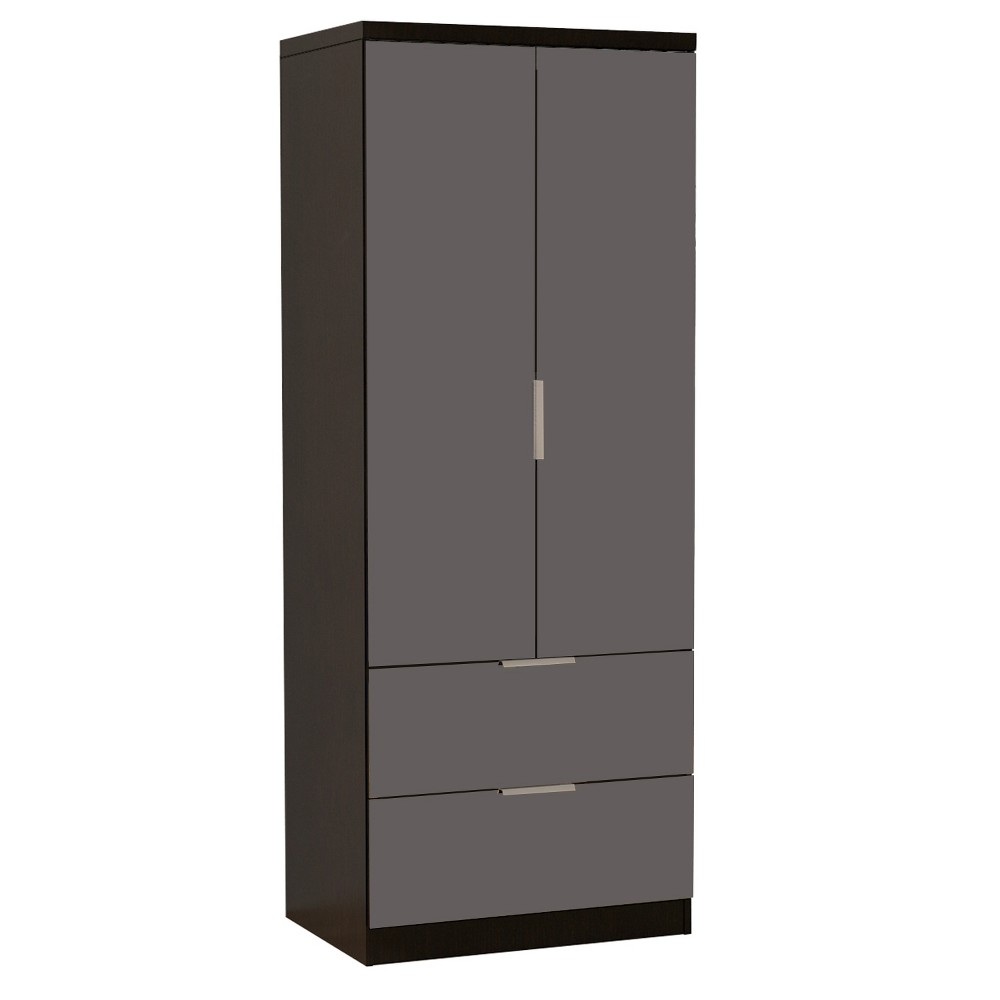 Image of Gianna Mirrored Dresser Espresso - Home Source Industries, Black Silver