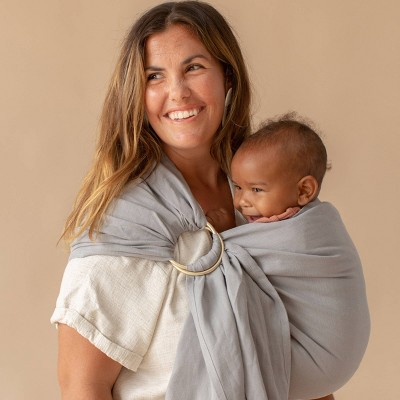 WildBird Ring Sling Baby Carrier - Owl/Gold Ring