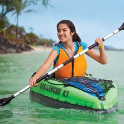 Intex Challenger K1 1-Person Inflatable Sporty Kayak w/ Oars And Pump (2 Pack)