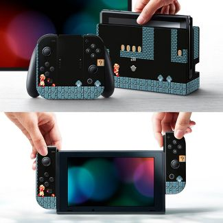Nintendo Switch Super Mario Bros. Skin and Protector Set - Dungeon Warp Zone
