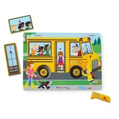 Melissa & Doug The Wheels on the Bus Sound Puzzle 6pc