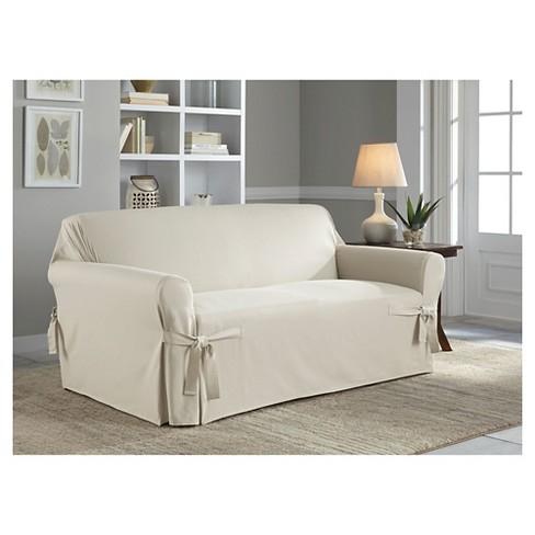 Phenomenal Relaxed Fit Duck Furniture Loveseat Slipcover Serta Creativecarmelina Interior Chair Design Creativecarmelinacom