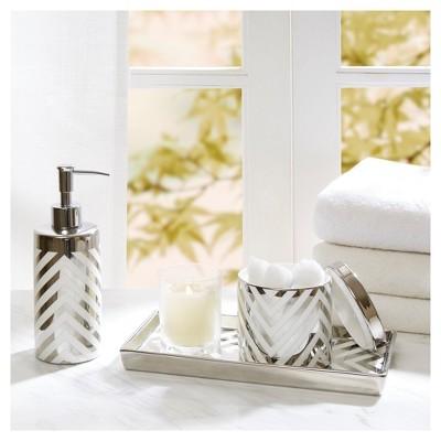 Arrow Bath Coordinate Set Silver
