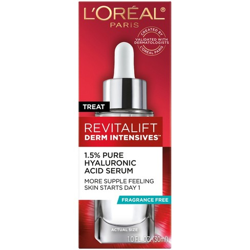 L'Oreal Paris Revitalift Derm Intensives Hyaluronic Acid Facial Serum - 1 fl oz - image 1 of 4